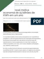 Selo Do Procel Motiva Economia de 15 Bilhões de KWh Em Um Ano _ Agência Brasil