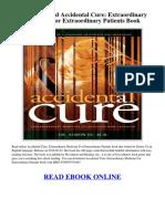 Accidental Cure Extraordinary Medicine Patients