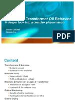 Moisture in Tranformer Oil Behavior Webinar