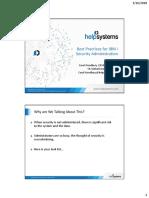 Best Practices for IBM i Security Administration   Transport