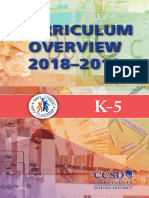 k-5 curriculum overview - english