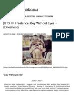 [BTS FF Freelance] Boy Without Eyes – (Oneshoot) BTS Fanfiction Indonesia