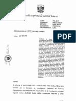 Resolución de la Fiscalía Suprema de Control Interno
