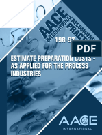19R-97 Estimate Preparation Costs for the Process Industries