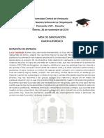 Misa de Graduación Derecho Ucv