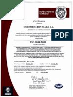 Certificacion Pintura Epoxica Aurora ISO9001
