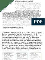 Parabola de El Rico y Lazaro