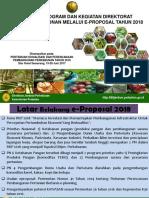 KEBIJAKAN PROGAM DAN KEGIATAN DITJENBUN MELALUI E-PROPOSAL TAHUN 2018_Edit2.pptx