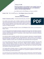 RA 8550 (Philippine Fisheries Code)