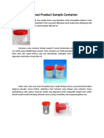Informasi Product Sample Container