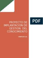 Proyecto de Implantacion de Gestion Del Conocimiento Cineplanet