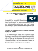 A APLICAÇÃO DA LEI DE ACESSO À INFORMAÇÃO NA UNIVERSIDADE FEDERAL DO MARANHÃO
