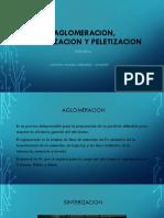 Aglomeracion,Sinterizacion y Peletizacion
