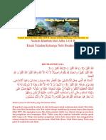 Naskah Khutbah Idul Adha 1434 H
