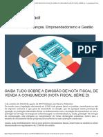 Saiba Tudo Sobre a Emissão de Nota Fiscal de Venda a Consumidor (Nota Fiscal Série d) – Contabilidade Fácil