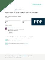 Acute Pelvic Pain in Women