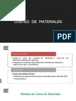 Tema 07 - Costeo de Materiales