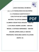 TECNICAS CUANTITATIVAS Y CUALITATIVAS DE PLANEACION