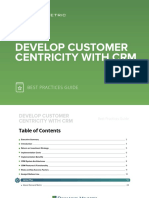 Develop Customer Centricity CRM Best Practices Guide
