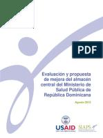 EVALUACION Y PROPUESTA DE MEJORA DEL ALMACEN