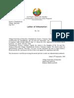 Certified Letter