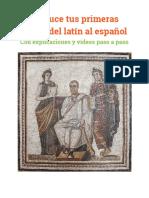 Traduce Tus Primeras Frases Del Latín Al Español Hoy Mismo