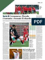 La Provincia Di Cremona 06-12-2018 - Serie B