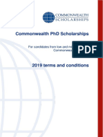Terms Conditions Phd Scholarships Low Middle Income Countries 2019