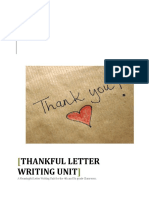 unit thank you letters