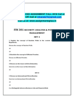 3rd Sem Mf Fall 2018 Smu Mba Solved Assignments