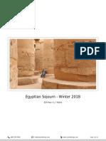 Egyptian Sojourn Winter 2018