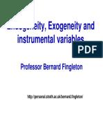 exogeneidad y variables instrumentales