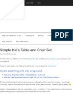Simple Kid's table and chairs