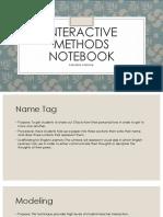 interactive methods notebook