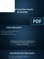 Fixed Longterm Assets Accounting