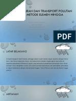 Pemodelan Aliran Dan Transport Polutan Dengan Metode Elemen