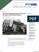 Tak Penuhi Tingkat Kesehatan, OJK Cabut Izin Usaha Tossa Salimas Finance