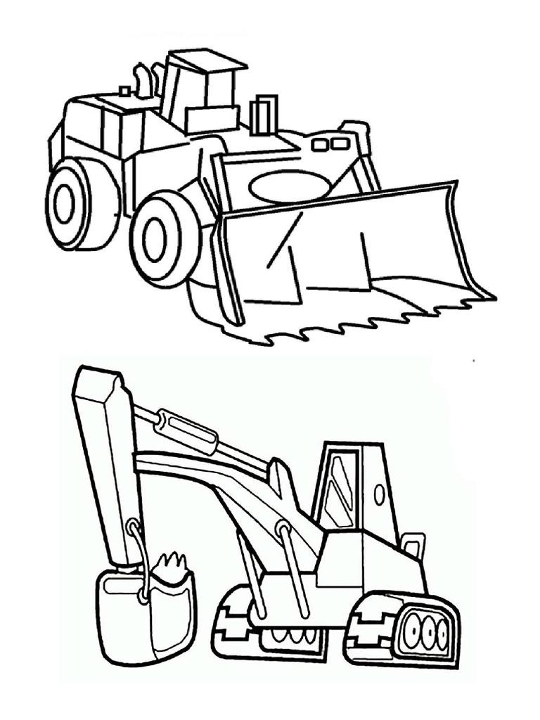 35 Top Populer Gambar Sketsa Excavator Terlengkap Bol4gol