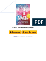 1941999999 Libera Tu Magia Big Magic by Elizabeth Gilbert