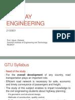 0 Introdiction Syllabus Highway Engg Course-2150601