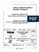 Inspection Report on Lime, Alum & Polymer Pumps