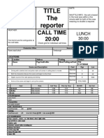 10 call sheet template