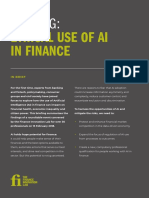 Briefing Ethical Use of AI in Finance 2