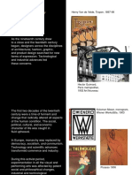 The history of 20th Century Graphic Design from 1900 to 1920