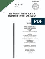 Time-Dependent Prestress Losses in pretensioned concrete construction