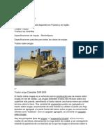 Tractor Sobre Orugas