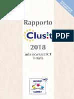 Rapporto Clusit 2018 - Edizione Settembre 2018