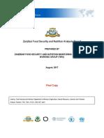IPC Tanzania Zanzibar AcuteFI Report 2017JulySept