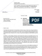 DEP letter to the county