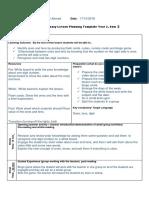 lesson plan template math